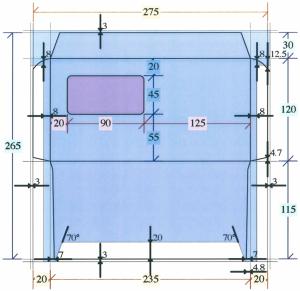 洋長3封筒の展開図、テンプレートのダウンロード